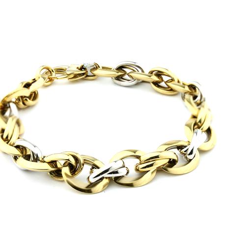 Mini pulseira elos trancados