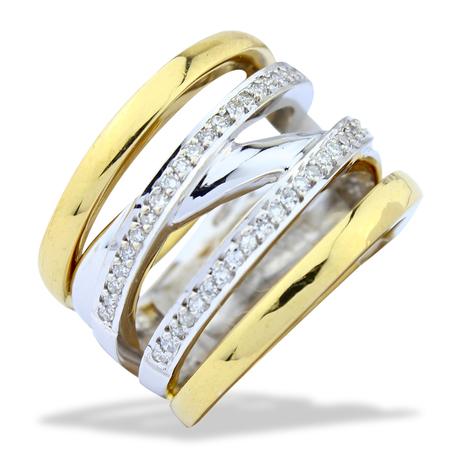 Mini anel voltas 52 brilhantes