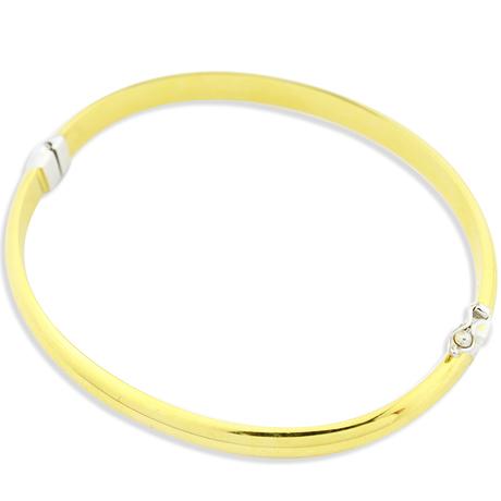 Mini pulseira bracelete cano achatada