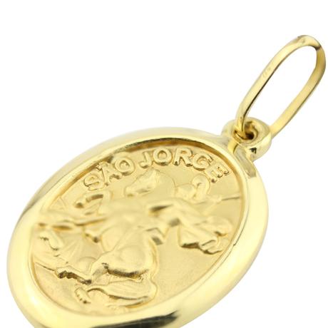 Mini medalha sao jorge media oval