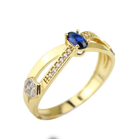 Mini anel safira oval