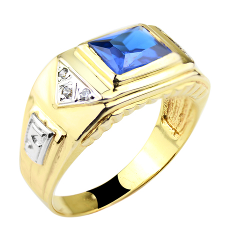 Mini anel formatura masculino safira